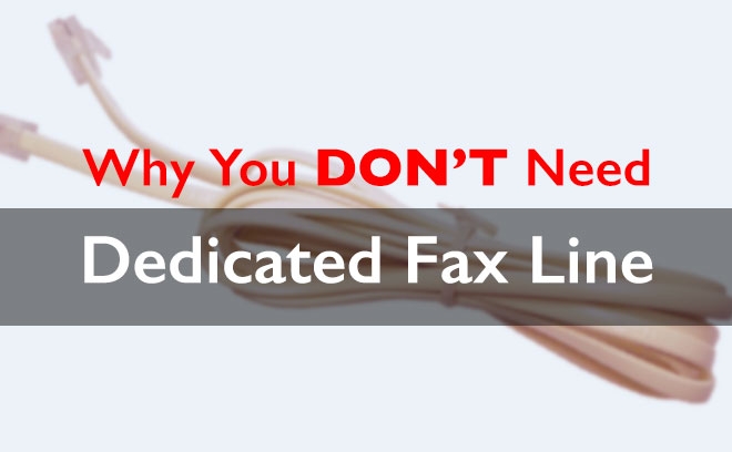 why you don't need a dedicated fax line