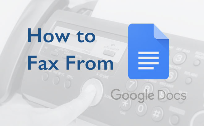 fax from google docs